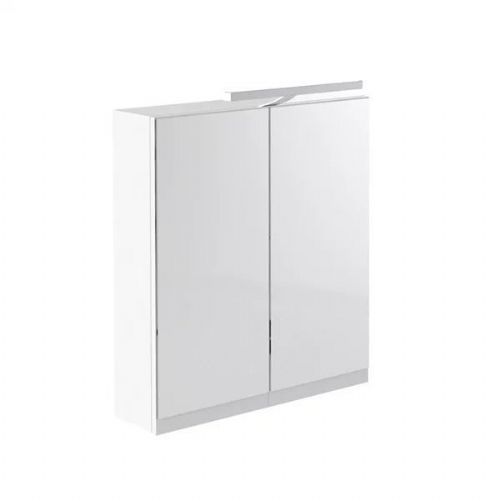 Kartell Ikon Mirrored Cabinet With Light And Shaver Socket - 600mm - White